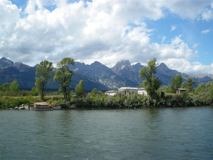 Grand Teton's & the Snake River from Dornan's at Moose Junction, Moose, Wyoming as photographed by Daniel L. Carpenter