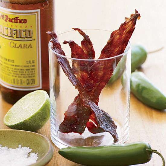 Spiked with jalapeños and fresh lime juice, this zingy jerky was inspired in part by Rachel Graville's stint as sous-chef at a Mexican resort.    ...