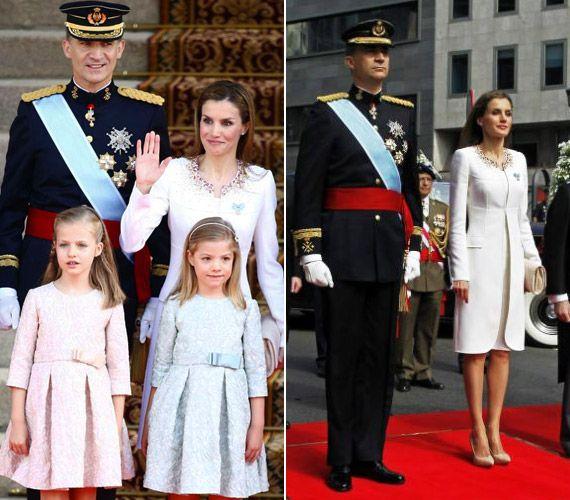Íme, a koronázási fotók! Letizia királyné ékkövek nélkül is ragyogott | femina.hu