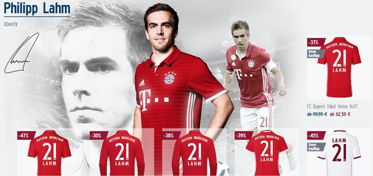 You like Bayern München? You like Philipp Lahm? Then get these FC Bayern jerseys on sale now!