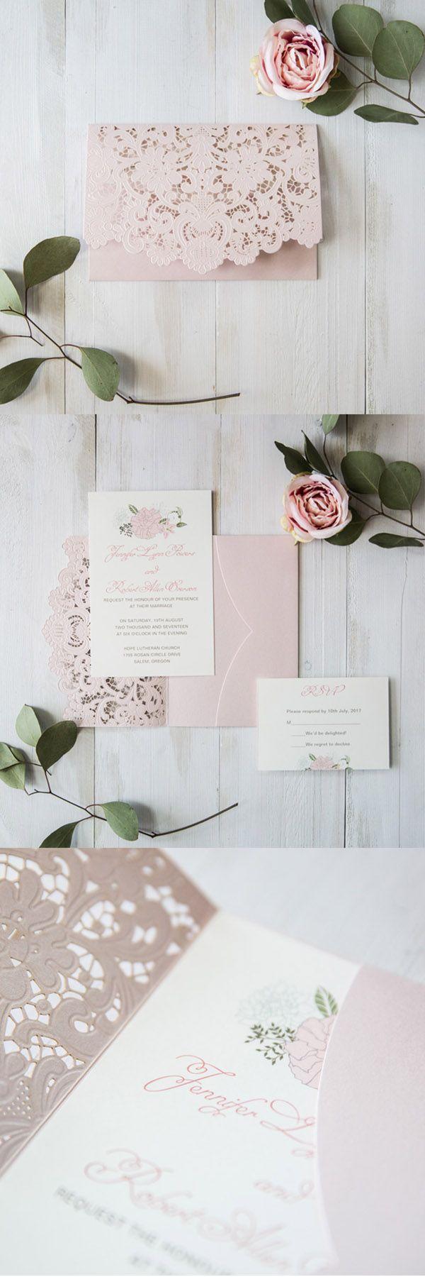 elegant blush pink floral laser cut wedding invitation cards#elegantweddinginvites#blush#elegant#garden#weddingcolors#invitations