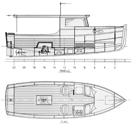 Launch Cruiser 24 - Launch Cruiser Power Boat | Chesapeake Marine Design
