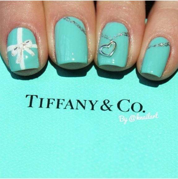 Copycat Claws Blue Color Block Nail Art: 25+ Best Ideas About Tiffany Nails On Pinterest