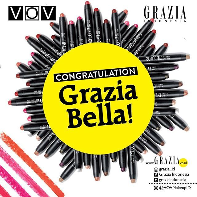 After struggling choosing the winner we finally choose 2 Grazia Bella with the most flawless and dazzling holiday makeup look to win this competition. Congratulation! Please sent us your data (name email phone number and address) through DM. . For Grazia Bella who doesn't win this time feel free to join another #graziaxvov #graziaxvovquiz in our YouTube channel and get a chance to win @VOVMakeUpID All Day Strong Eye & Lip Color and VOV MAXMINI Cushion worth Rp. 675.000 for three lucky…