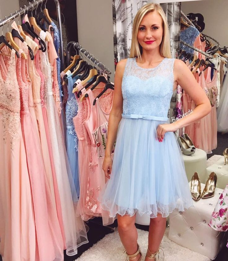 Sky blue cocktail dress