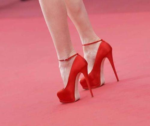 moda, zapatos, tacones rojos