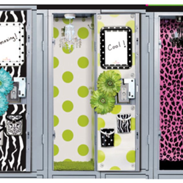talk about lockers for wall paper use wrapping paper or go to supply - Locker Decoration Ideas