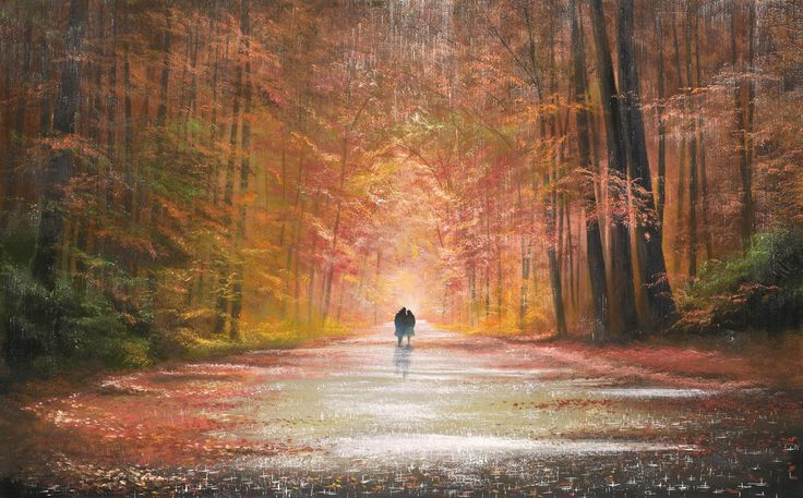 A Lovers Stroll – Painting by Jeff Rowland. For More Conetent : http://en.diduknowmag.com