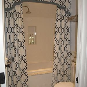 Like the double curtain idea, it opens up the bathroom a bit