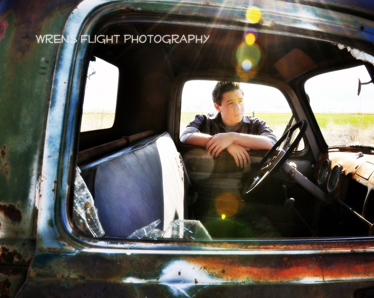 Senior Photo with an old truck.
