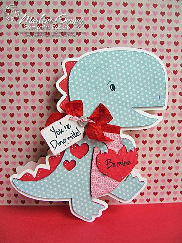 Handmade Valentine Dinosaur Shaped Card You Re Dino Mite