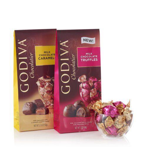 GODIVA Chocolatier Individually Wrapped Milk Chocolates (Set of 2) - http://bestchocolateshop.com/godiva-chocolatier-individually-wrapped-milk-chocolates-set-of-2/
