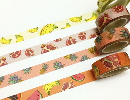 Pineapple Print Washi Tape by TaylorsworldHandmade on Etsy