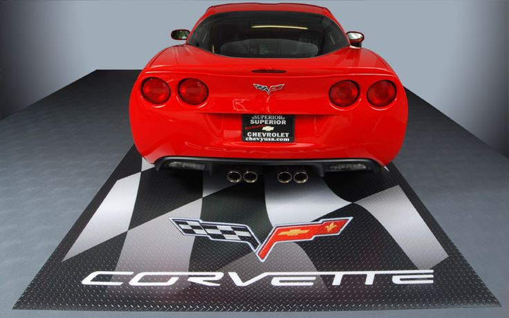 It's just a little red corvette! #GarageFlooring