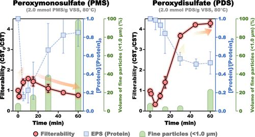 Disintegrationof Waste Activated Sludge by Thermally-ActivatedPersulfates for Enhanced Dewaterability