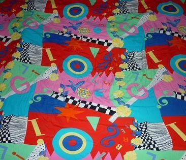 80s rayon fabric