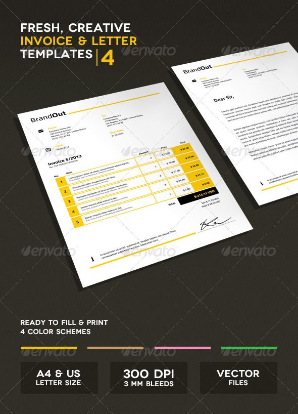 63 best Corporate Stationery images on Pinterest Invoice design - printed invoices