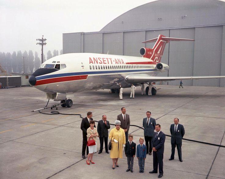 Ansett's first Boeing 727- 77 at Renton in Washington USA
