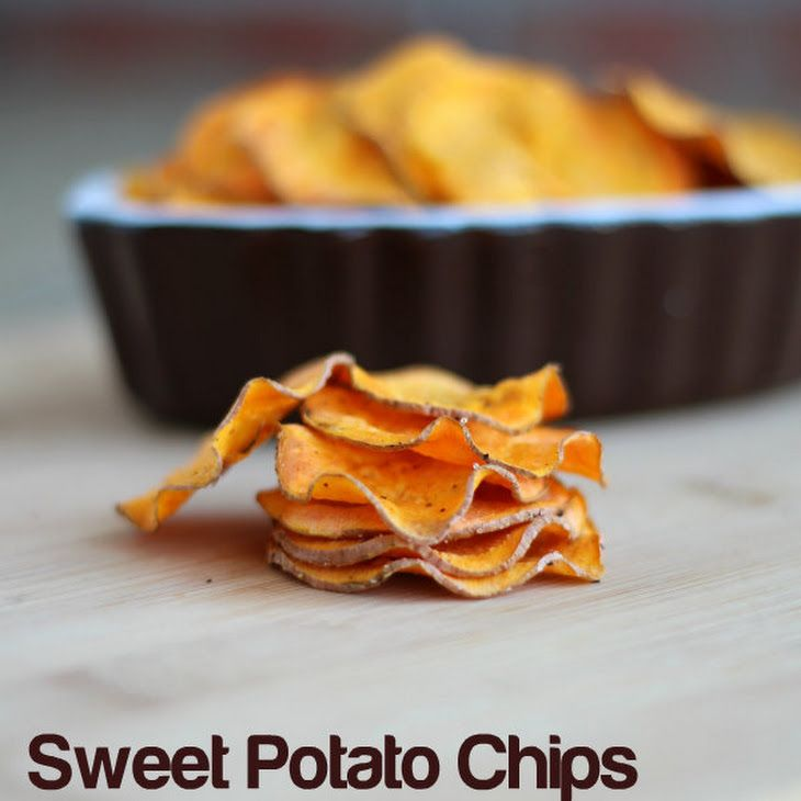 Sweet Potato Chips {in the microwave!} Recipe Side Dishes with sweet potatoes, extra-virgin olive oil, salt, ground pepper