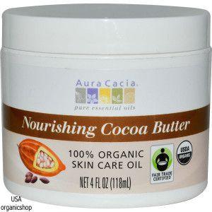 Масло какао Aura Cacia, Nourishing Cocoa Butter