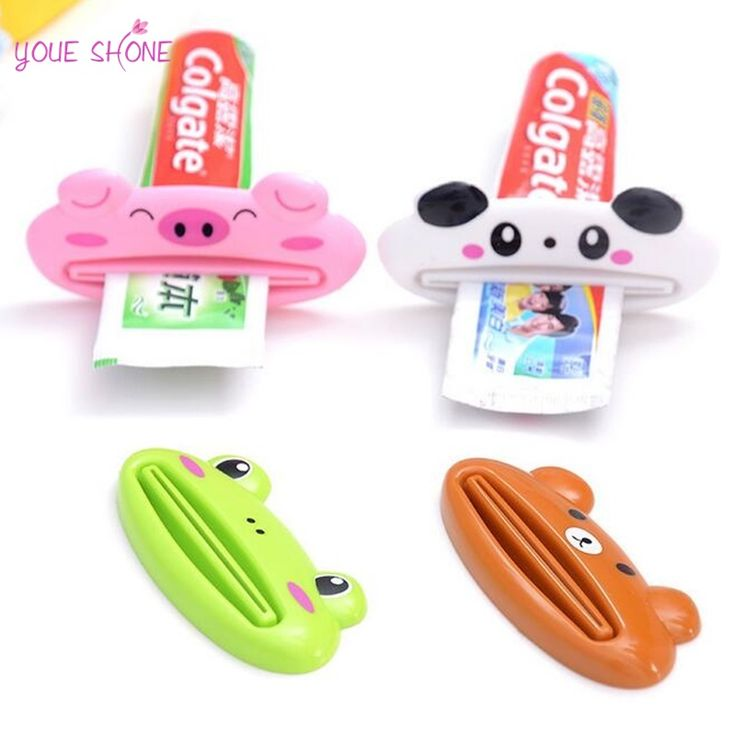 YOUE SHONE 1Pcs Brand New Cartoon Easy Squeezer Toothpaste Tube Dispenser Rolling Holder Cat/Frog/Panda/Pig Hot Sales #Affiliate