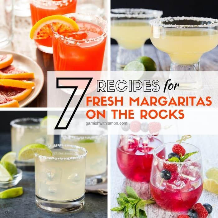 Few summer cocktails beat a pitcher of fresh margaritas on the rocks. Check out our collection of 7 homemade margarita recipes & find a new favorite!