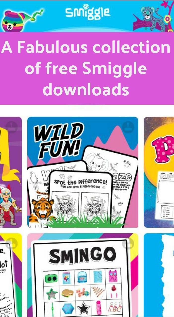 A fabulous collection of FREE Smiggle downloads including puzzles, colouring and games.. The perfect boredom buster for Smiggle loving kids and fun free downloads to keep ready for a rain day play or take on holiday for the keeping the kids busy as they travel