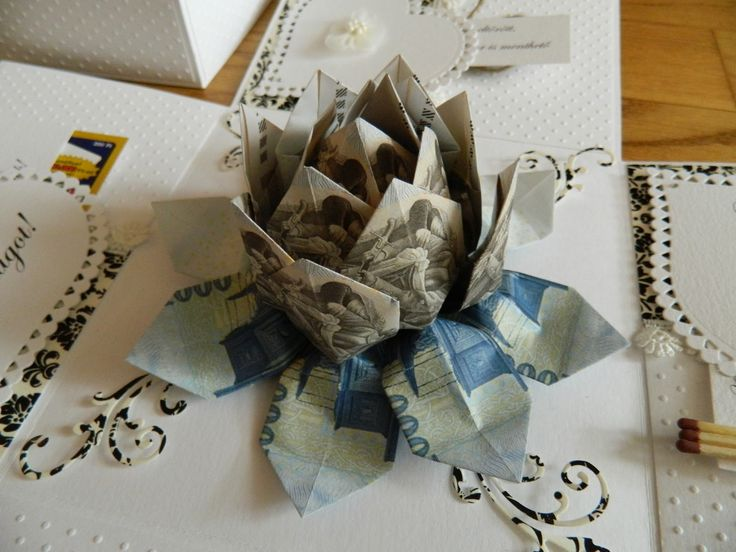 Kreatívkodásaim: Esküvői doboz pénzvirággal