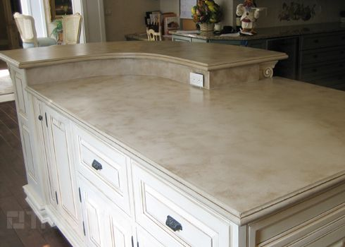 concrete countertop light color kitchen pinterest countertops the shape and light colors - Colored Concrete Countertops