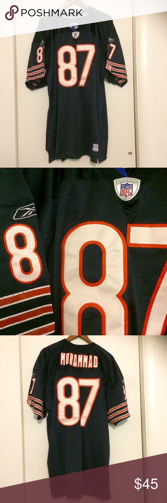 "Official NFL Chicago Bears football jersey #87 This Official NFL football jersey is made by Reebok, size 54, and is brand new with tags. For The Chicago Bears, shows the name ""Muhammad"" on the back. Get your game gear just in time for Football Season! Great condition. Party on. Reebok Other"