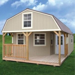 Painted Deluxe Lofted Barn Cabin Web