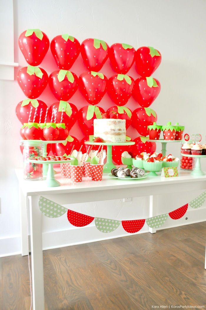 Berry Sweet Strawberry Valentine's Day Party with FREE printables! By Kara's Party Ideas for Canon.