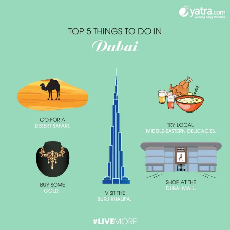 Dubai has a host of options for every kind of tourist. Make sure you don't miss these! #Top5 Book Holiday & Tour Packages to Dubai today. More at: http://www.yatra.com/international-tour-packages/holidays-in-dubai