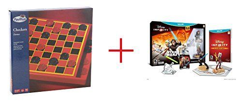 Pavilion Games Checkers and Disney Infinity 30 Edition Starter Pack for Nintendo Wii U  Bundle