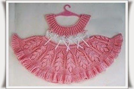 Tığ işi Askılı Çocuk Elbisesi-Tığ işi Modelleri