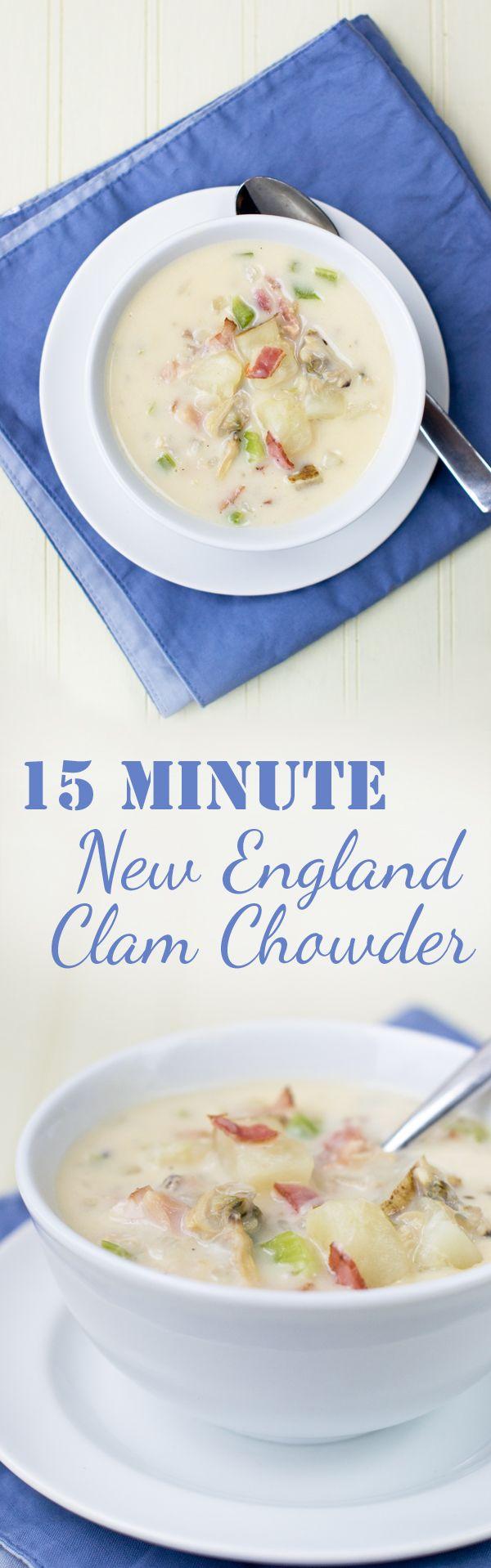 15-Minute Homemade New England Clam Chowder recipe