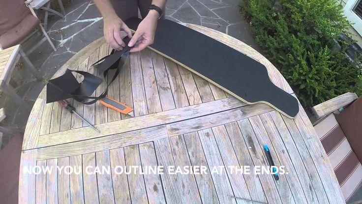 How to griptape a drop through longboard