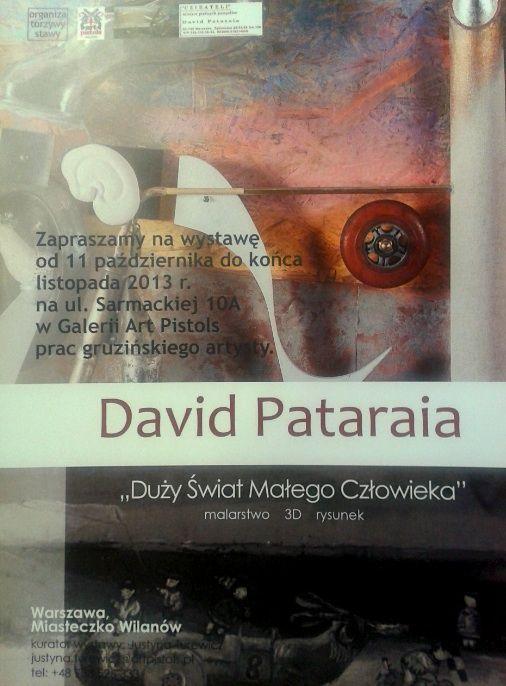 wystawa Davida Pataraia do kónca listopada 2013 r.