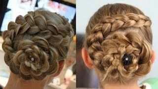 Dutch Flower Braid   Updo Hairstyles, via YouTube.