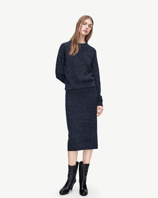 Filippa K, Melange Knit Skirt & Melange Knit Pullover