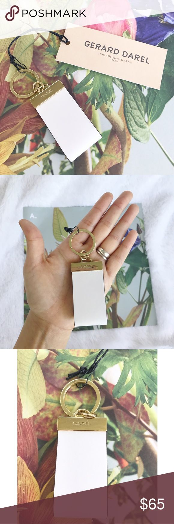 "NWT Gerard Darel Leather Optic White Keychain NWT Gerard Darel Leather Optic White Keychain! New with tags. Originally $90. Leather. 4"" long (including chain) made in morocco. Gerard Darel Accessories Key & Card Holders"