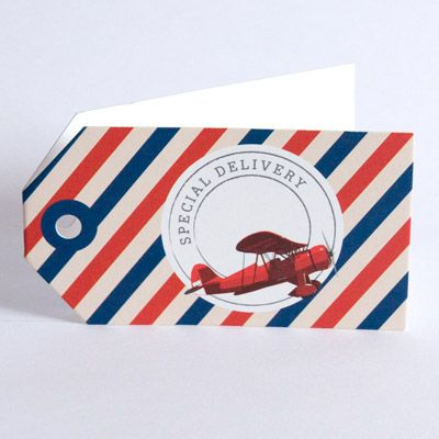 Plane Airmail Gift Tag www.motherbabystore.com.au