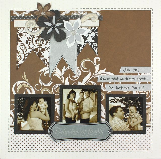 Definitions of Family Divine #Scrapbook Layout Project Idea from Creative Memories    www.creativememor...