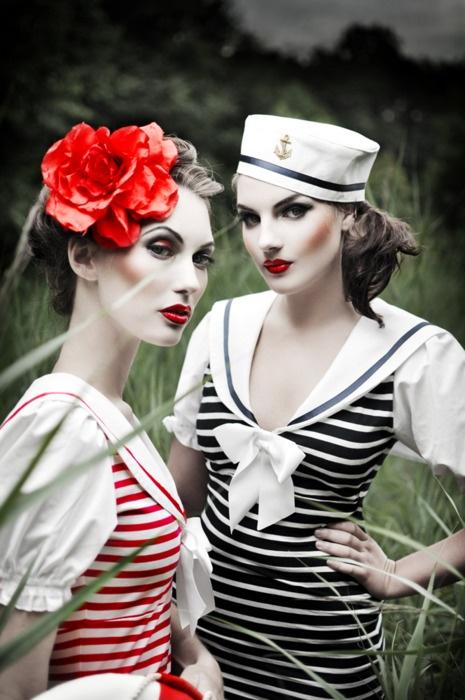 .: Vintage Sailors, Vintage Nautical Photo Ideas, Dramatic Photography, Sailors Halloween Costumes, Sailors Fashion, Silent View, Fashion Photography, Nautical Fashion, Color Pop