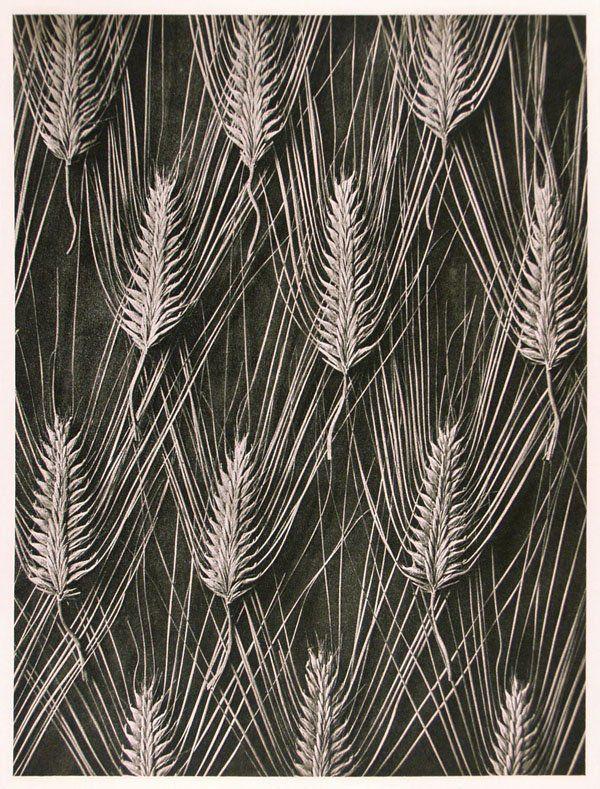 Wheat pattern. Black & White.