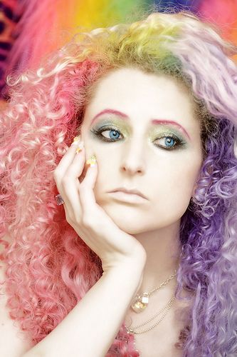Why are you so sad? You have cotton candy hair!!!! My hair will probably look a lot like the pink and purple when I dye it