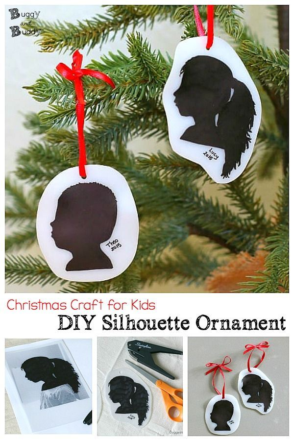 Diy Silhouette Christmas Ornament Craft For Kids Crafts For Kids