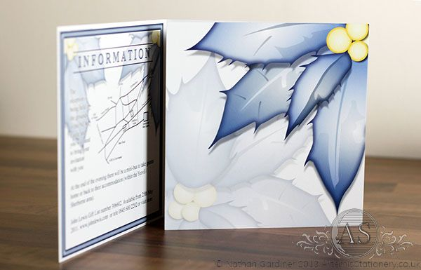 The English Wedding Blog recommends… Winter wedding invitation by Artemis Stationery – just one of a fabulous collection which you can see and buy online at www.artemisstationery.co.uk