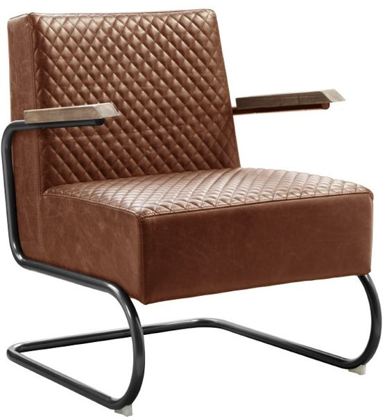 aldosa fauteuil Profijt Meubel, industriële fauteuil met ruit stiksel