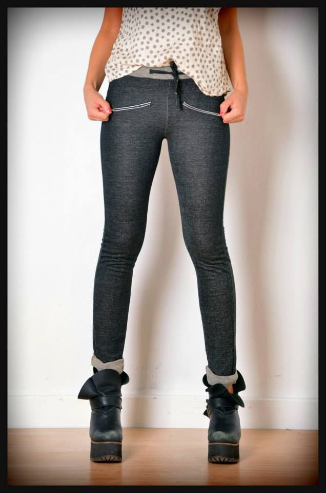 calza pantalon rustico negra